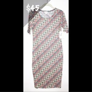 NWT LuLaRoe XS Julia Dress Abstract